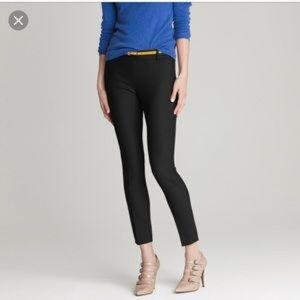 J. Crew Minnie Black Pant in bi Stretch Wool